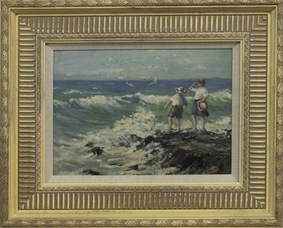 Lot 21 - THE PATH, ANSTRUTHER, AN OIL BY W LAUGHLAND COCKBURN