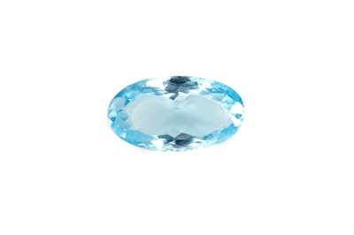 Lot 466 - **A CERTIFICATED UNMOUNTED BLUE TOPAZ