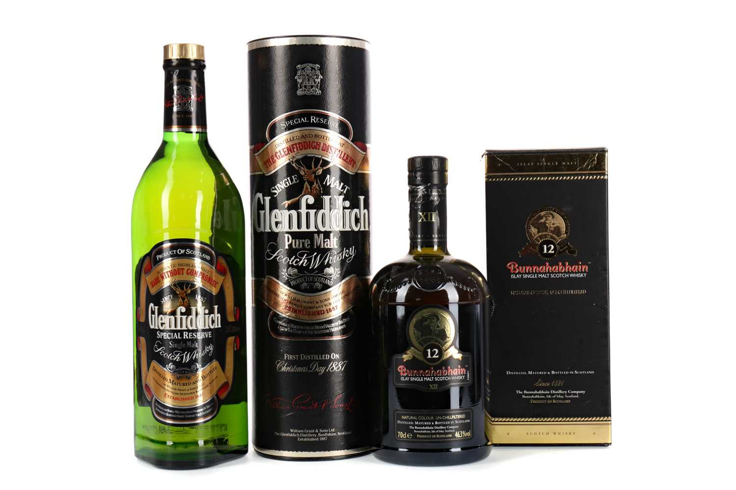 Lot 85 - GLENFIDDICH SPECIAL RESERVE AND BUNNAHABHAIN AGED 12 YEARS