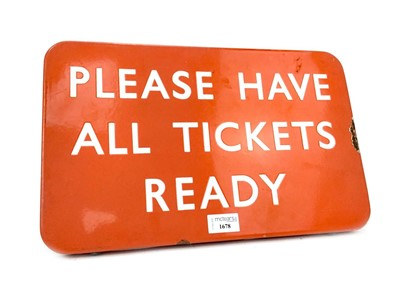 Lot 1631 - A NORTH EASTERN RAILWAYS OBLONG INFORMATION SIGN - PLEASE HAVE ALL TICKETS READY