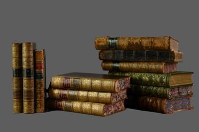 Lot 1143 - LOT OF TWELVE LEATHER BOUND BOOKS