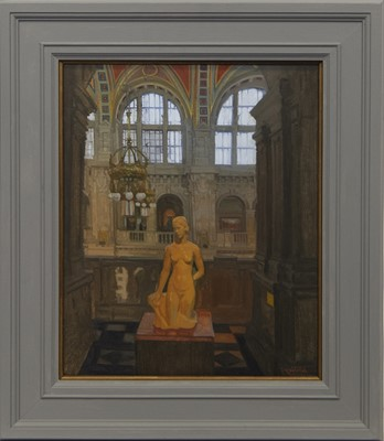 Lot 651 - THE NYMPH OF KELVINGROVE, AN OIL BY ANDREW FITZPATRICK