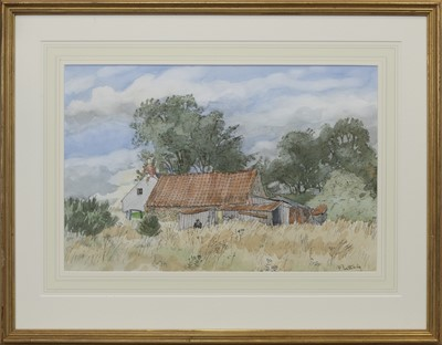 Lot 653 - WILDIE RITCHIE'S HOUSE, A WATERCOLOUR BY ALASTAIR FLATTELY