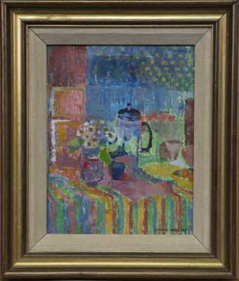 Lot 667 - COFFEE POT GROUP, AN OIL BY CYNTHIA WALL