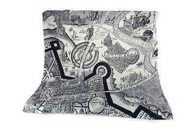 Lot 1629 - A 'MAP OF DAYS' SILK SCARF, BY * GRAYSON PERRY RA