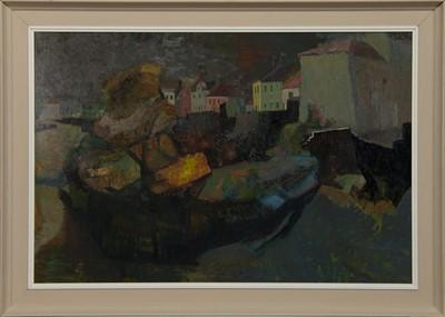 Lot 510 - ROCK VILLA, PITTENWEEM, AN OIL BY WILLIAM BIRNIE