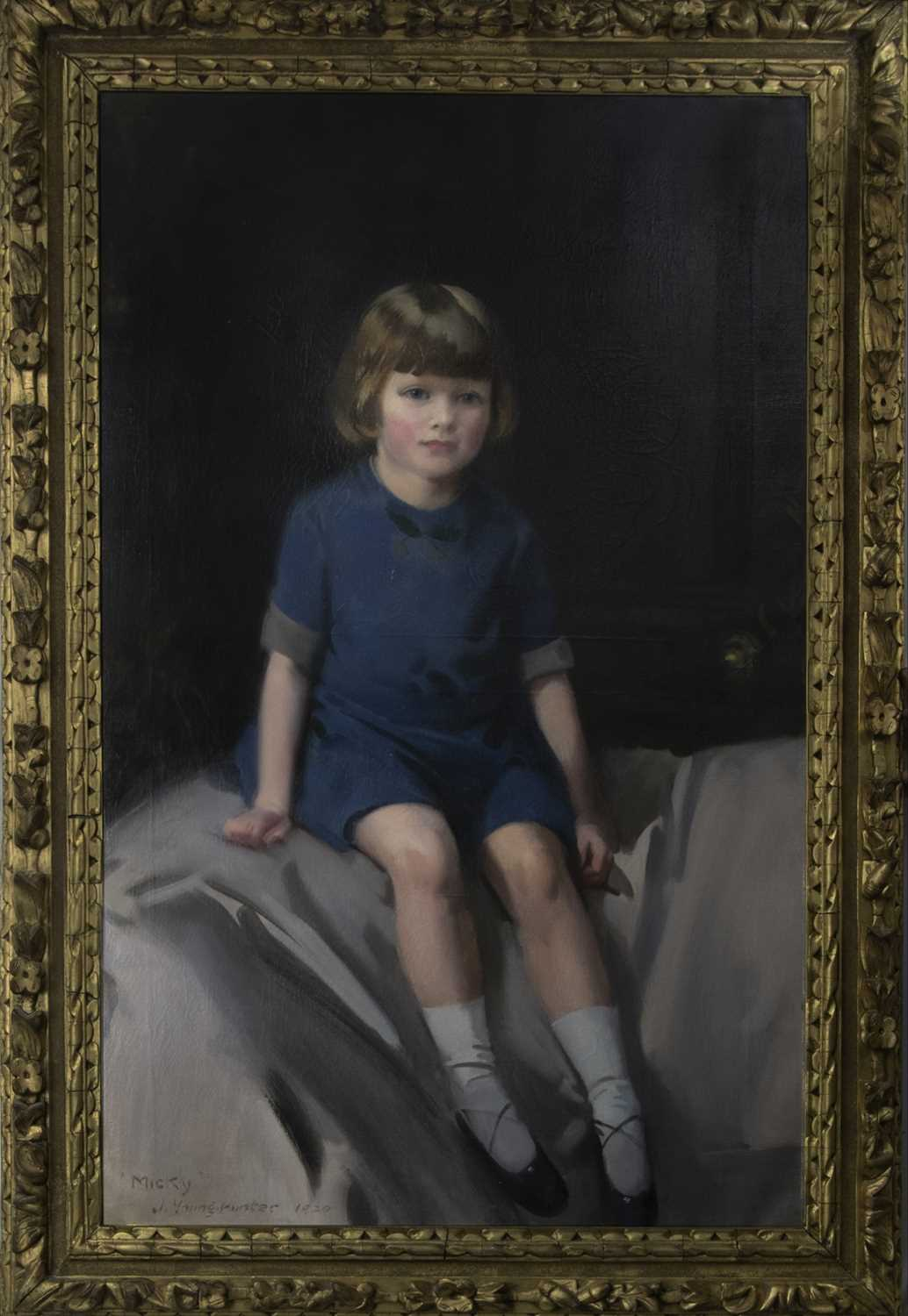 Lot 25 - MICKEY, A LARGE OIL BY JOHN YOUNG HUNTER