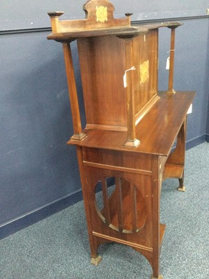 Lot 765 - AN EARLY 20TH CENTURY ARTS & CRAFTS MAHOGANY SECRETAIRE ATTRIBUTED TO GEORGE WALTON