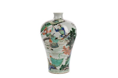 Lot 818 - A 20TH CENTURY CHINESE FAMILLE VERTE VASE
