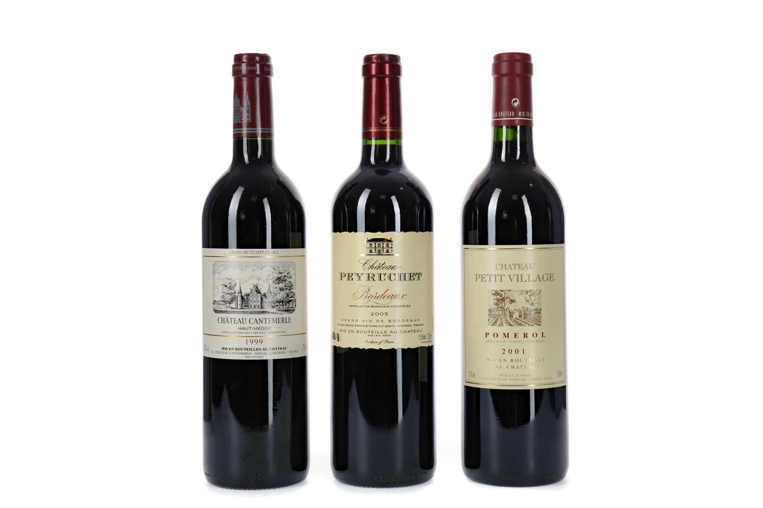 Lot 94 - THREE BOTTLES OF RED BORDEAUX