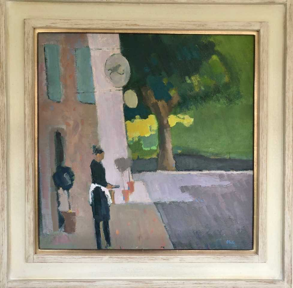 Lot 674 - PROVENCAL HOTEL, AN OIL BY MICHAEL CLARK