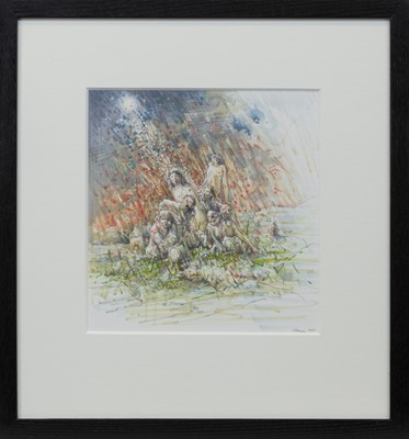 Lot 682 - SLATE ISLAND, A MIXED MEDIA BY PETER HOWSON