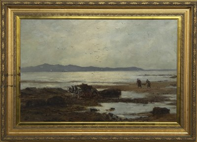 Lot 41 - LOW TIDE, AN OIL BY ANDREW ALLAN