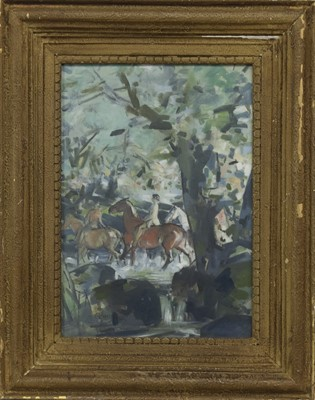 Lot 61 - ACROSS COUNTRY, AN OIL BY EDMUND BLAMPIED