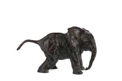 Lot 1641 - LAURENCE BRODERICK MRBS FRSA (BRITISH, b.1935- PRESENT) BRONZE ELEPHANT