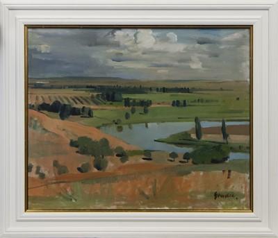 Lot 515A - TOLEDO LANDSCAPE, AN OIL BY ALEXANDER GOUDIE