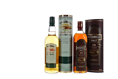 Lot 104 - BUSHMILL'S AGED 16 YEARS, AND THE TYRCONNELL