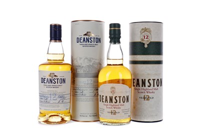 Lot 114 - TWO BOTTLES OF DEANSTON 12 YEARS OLD