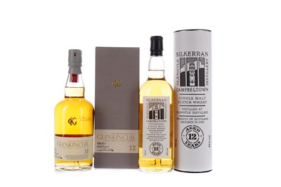 Lot 118 - KILKERRAN AGED 12 YEARS AND GLENKINCHIE 12 YEARS OLD