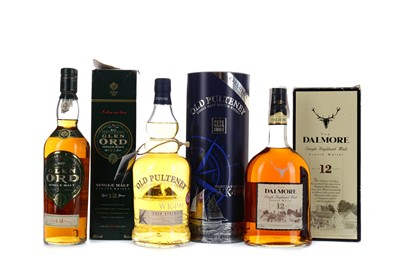 Lot 131 - OLD PULTENEY ISABELLA FORTUNA WK499, DALMORE 12 YEARS OLD AND GLEN ORD 12 YEARS OLD