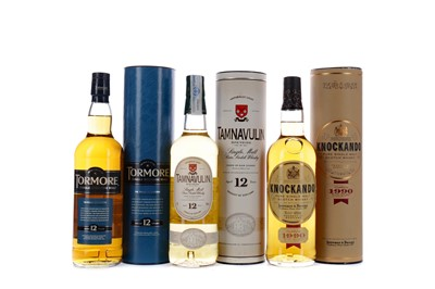 Lot 138 - KNOCKANDO 1990, TORMORE AGED 12 YEARS AND TAMNAVULIN AGED 12 YEARS