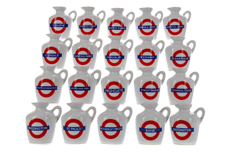 Lot 144 - TWENTY MACALLAN LONDON UNDERGROUND SERIES 10 YEAR OLD MINIATURES