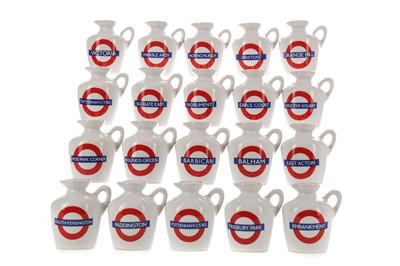 Lot 145 - TWENTY MACALLAN LONDON UNDERGROUND SERIES 10 YEAR OLD MINIATURES