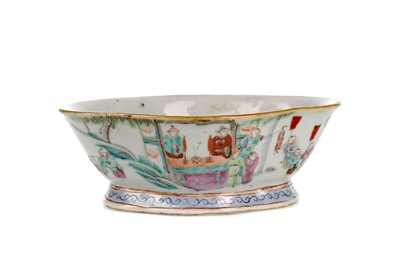 Lot 895 - AN EARLY 20TH CENTURY CHINESE OVAL SHAPED BOWL
