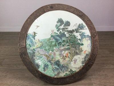 Lot 701 - A 19TH CENTURY CHINESE CERAMIC CIRCULAR PLAQUE