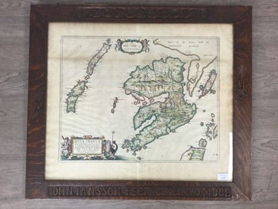 Lot 1659 - A HAND COLOURED MAP, TIMOTHY PONT