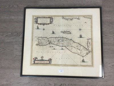 Lot 1658 - A HAND COLOURED MAP OF CANTYRA AND ANOTHER MAP