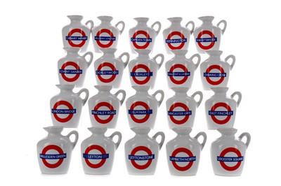 Lot 147 - TWENTY MACALLAN LONDON UNDERGROUND SERIES 10 YEAR OLD MINIATURES