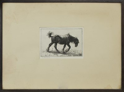 Lot 56 - WEARY, AN ETCHING BY EDMUND BLAMPIED