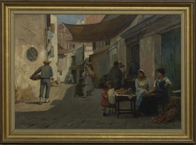 Lot 44 - CALLE DEL PESTRIN, VENICE, AN OIL BY WILLIAM JOBBINS