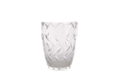 Lot 1073 - A CLYNE FARQUHARSON 'LEAF' PATTERN GLASS VASE