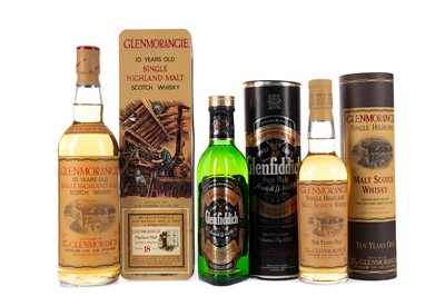 Lot 1 - ONE AND A HALF BOTTLES OF GLENMORANGIE AND A HALF BOTTLE OF GLENFIDDICH SPECIAL OLD RESERVE
