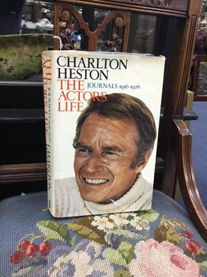 Lot 68 - A SIGNED COPY OF THE ACTOR'S LIFE BY CHARLTON HESTON