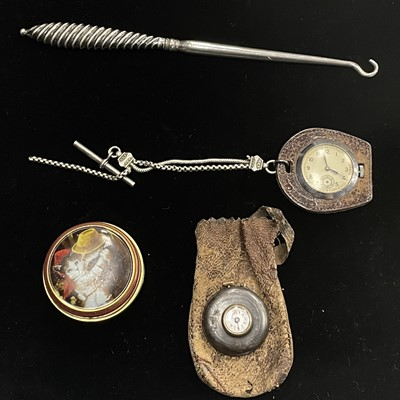 Lot 70 - A FOB WATCH AND OTHER ITEMS
