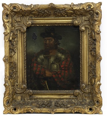 Lot 2049 - A 19TH CENTURY OIL OF ROB ROY