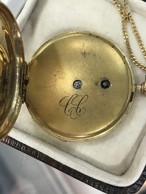 Lot 735 - A LADY'S FOB WATCH