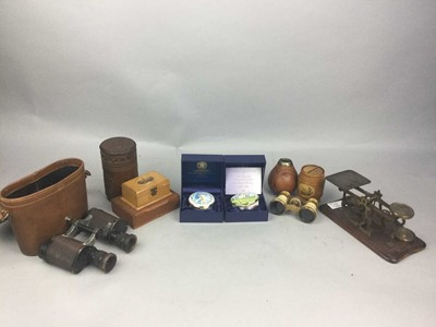 Lot 49 - A PAIR OF CARL ZEISS JENA TELACT BINOCULARS AND OTHER ITEMS
