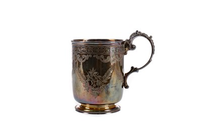 Lot 495 - A VICTORIAN SILVER CHRISTENING CUP