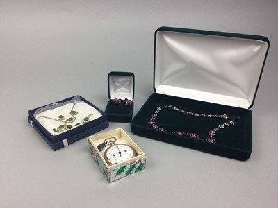 Lot 35 - A LOT OF COSTUME JEWELLERY INCLUDING SILVER