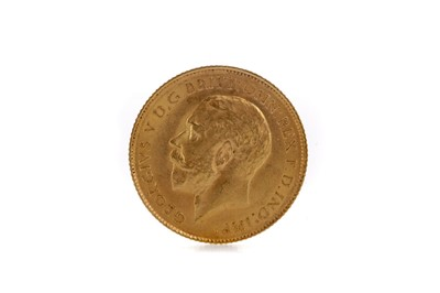 Lot 36 - A KING GEORGE V HALF SOVEREIGN DATED 1914