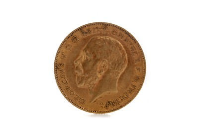 Lot 37 - A KING GEORGE V HALF SOVEREIGN DATED 1911