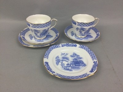 Lot 32 - A DUCHESS PART TEA SERVICE, ALONG WITH ANOTHER AND TWO COPELAND DISHES