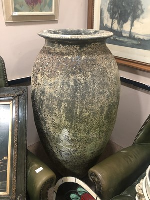 Lot 36A - A LARGE STONE GARDEN URN
