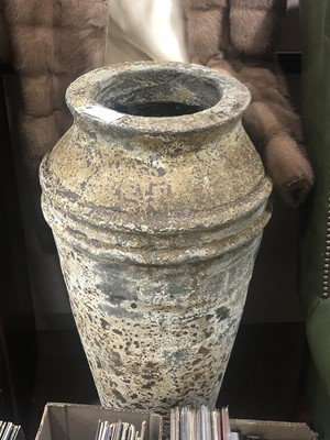 Lot 38A - A LARGE STONE GARDEN URN
