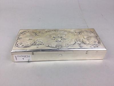 Lot 7 - AN EDWARDIAN SILVER WRITING BOX