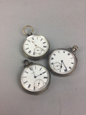 Lot 13 - A LOT OF THREE SILVER POCKET WATCHES